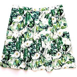 "NWOT Antonio Melani Green/Wht Floral ""Lila"" Skirt"